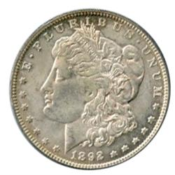 MORGAN DOLLAR.  1892-O. Mint State-62.
