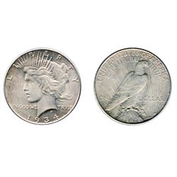 PEACE DOLLAR.  1934.  Mint State-62.