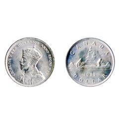 1935.  ICCS Mint State-64.  Lot of two (2) dollars.
