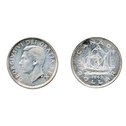 1939.  ICCS Mint State-64.  Brilliant;  1949.  ICCS Mint State-64.  Brilliant.  Lot of two(2) pieces