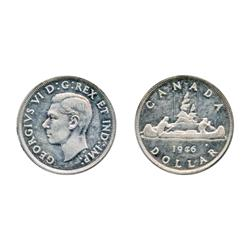 1946,  1947, Blunt 7.  Both ICCS Mint State-60.  Both lightly toned.