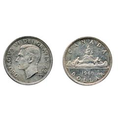 1948.  ICCS Mint State-60.  Lightly toned.