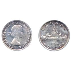1954.  ICCS Mint State-65.  Light multi-hued 'P.Q.' toning.  A rare Gem.