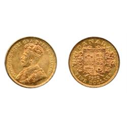 $5.00 GOLD.  1912.  ICCS Extra Fine-45.  Brilliant orange gold.