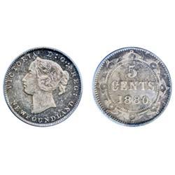 1880.  PCGS graded Mint State-65. Superb strike.  Even medium heavy, deep purple-blue toning.  A Gem