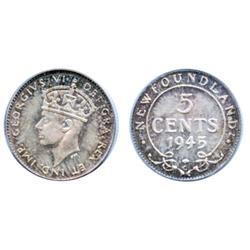 1945-C.  PCGS graded Mint State-67. Light to medium heavy 'P.Q.' golden toning over full luster.  Gr