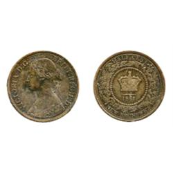 ½ CENT.  1861.  ICCS Very Fine-30.  Brown.