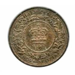 ½ CENT.  1861. ICCS AU-55. Brown;  1864. ICCS Mint State-62. Traces of Red.  Lot of two (2) coins.