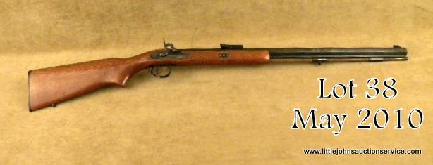 "CVA Sharpshooter Model percussion half stocked plains type rifle, black  powder only,  50 cal , 26"""