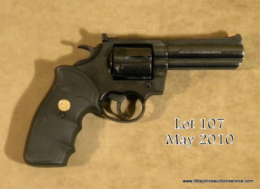 "Colt King Cobra Model DA revolver,  357 Magnum cal , 4"" barrel, blue  finish, Colt medallion wrap a"