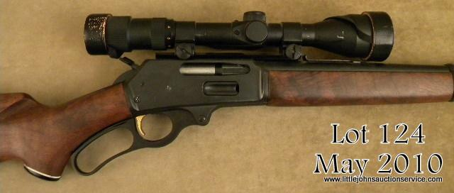 MARLIN Model 336, # Y38441, 30-30, blued finish, walnut stock with rubber  recoil pad  Rifle is in