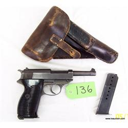 Walther German Luger P38 BYF44 9mm SemiAuto Pistol