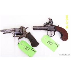 (2) Old Replica Guns - Old Bulletgun & Cap n ball