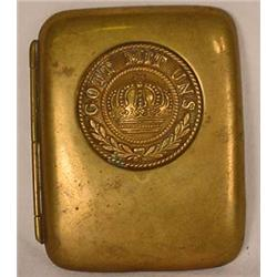 IMPERIAL GERMAN BRASS MILITARY CIGARETTE CASE