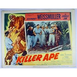 "1953 ""KILLER APE"" LOBBY CARD - JUNGLE JIM - Johnny"