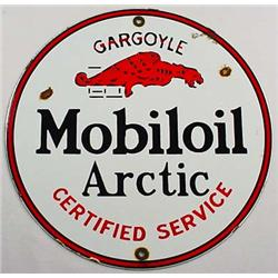 ANTIQUE MOBIL OIL ARCTIC GARGOYLE CERTIFIED SERVIC