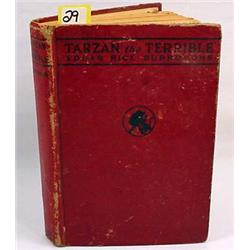 "1921 ""TARZAN THE TERRIBLE"" HARDCOVER BOOK - By Edg"