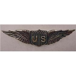 WW1 US PILOT AVIATOR AERO WING - Maker Marked Tiff