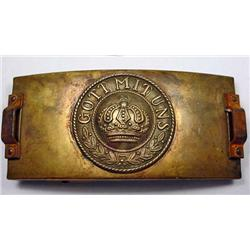 WW1 IMPERIAL GERMAN TELEGRAPHERS BELT BUCKLE - Mak