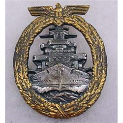 WW2 GERMAN NAZI NAVAL HIGH SEAS FLEET BADGE