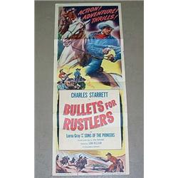 1952  BULLETS FOR RUSTLERS  INSERT MOVIE POSTER -