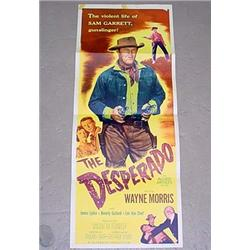 "1954 ""THE DESPERADO"" INSERT MOVIE POSTER - WAYNE M"