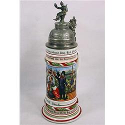 IMPERIAL GERMAN ARMY STEIN - LITHOPANE - UNIT DESI