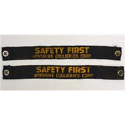 "VINTAGE AYRSHIRE COLLIERIES MINING ""SAFETY FIRST"""