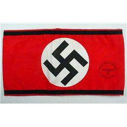 WW2 GERMAN NAZI SS ARM BAND - Printed Construction