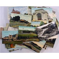LOT OF 100+ VINTAGE POSTCARDS - Incl. Birds Eye Vi
