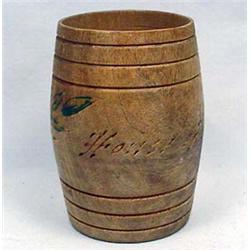 EARLY HOUSE OF DAVID WOODEN BARRELL SOUVENIR - App
