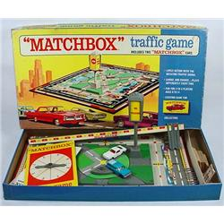 1968 MATCHBOX TRAFFIC GAME W/ 2 CARS IN ORIG. BOX