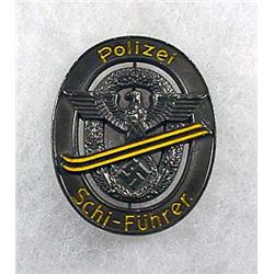 WW2 GERMAN NAZI POLICE SKIING LEADER BADGE - POLIZ