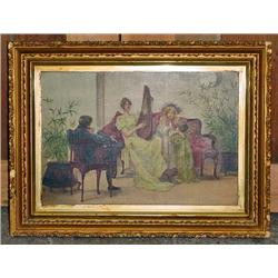 VINTAGE FRAMED PAINTING - Marked S. Tauslck on the