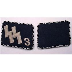 PAIR OF WW2 GERMAN NAZI ALLGEMEINE SS NO. 3 OFFICE