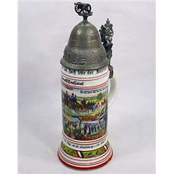 1912-1914 IMPERIAL GERMAN ARTILLERY STEIN - LITHOP
