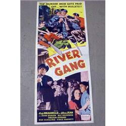 "1950 ""RIVER GANG"" INSERT MOVIE POSTER - GLORIA JEA"