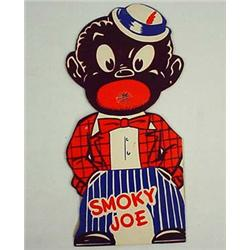 "VINTAGE BLACK AMERICANA ""SMOKY JOE"" DIE CUT RED DE"