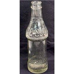 "EARLY COCA COLA ""C.C. SODA"" EMBOSSED GLASS BOTTLE"