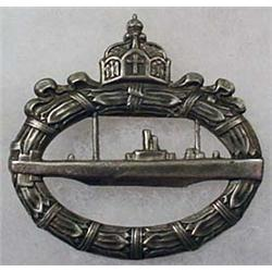 WW1 IMPERIAL GERMAN NAVAL U-BOAT SUBMARINE BADGE