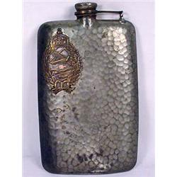VERY RARE IMPERIAL GERMAN HAMMERED FLASK W/ IMPERI