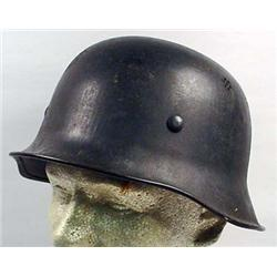 WW2 GERMAN NAZI POLICE CIVIC HELMET W/ LEATHER LIN