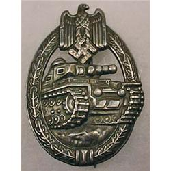 WW2 GERMAN NAZI ARMY SILVER TANK ASSAULT BADGE W/