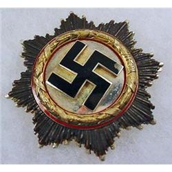 WW2 GERMAN NAZI GERMAN CROSS IN GOLD - Issued for
