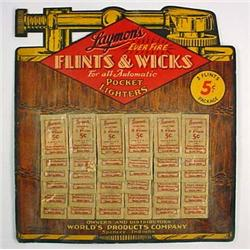 C. 1930'S LAYMON'S LIGHTER FLINTS AND WICKS ADVERT