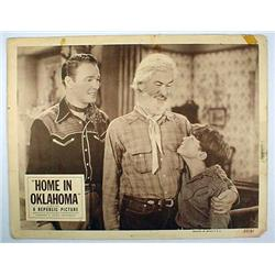 "1952 ""HOME IN OKLAHOMA"" LOBBY CARD - ROY ROGERS -"