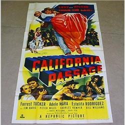 "1950 ""CALIFORNIA PASSAGE"" 3 SHEET MOVIE POSTER - F"