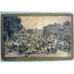 VERY RARE C. 1800'S DEERING TRACTOR TOWN PHOTO - M