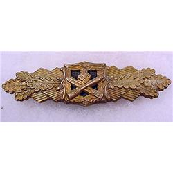 RARE WW2 GERMAN NAZI ARMY CLOSE COMBAT CLASP IN GO