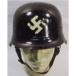 WW2 GERMAN NAZI POLIZEI HELMET - Fireman's / Civil